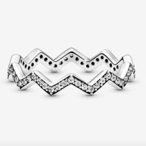 Pandora Zigzag Ring Set